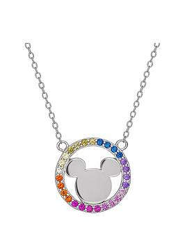 disney-mickey-mouse-sterling-silver-rainbow-crystal-pendant-necklace