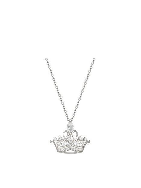 disney-princess-sterling-silver-crystal-tiara-pendant-necklace