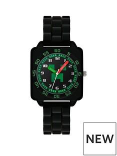 disney-minecraft-black-and-green-dial-black-strap-kids-watch