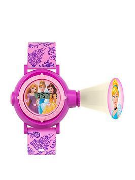 disney pn3007arg princess digital projector dial printed strap kids watch, one colour