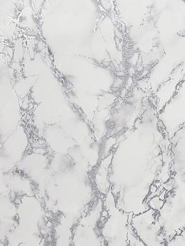 arthouse-carrara-marble-silver-wallpaper