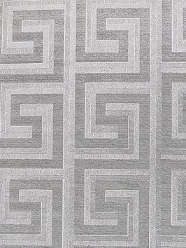 arthouse-greek-key-foil-silver-wallpaper