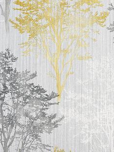 arthouse-wildwood-ochre-grey-wallpaper