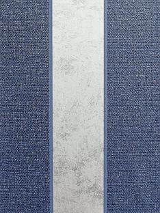 arthouse-calico-stripe-navy-wallpaper