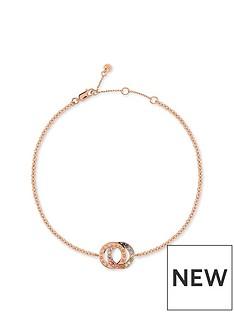 radley-radley-rose-gold-plated-sterling-silver-rainbow-crystal-double-hoop-ladies-bracelet