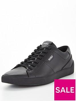 hugo-zero-tenn-leather-shoe-black