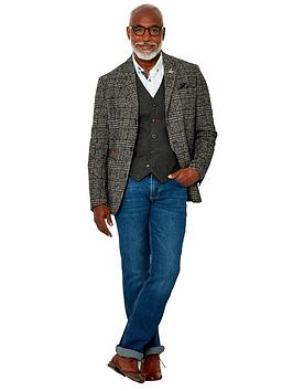 Joe Browns Terrific Textured Blazer - Grey, Grey, Size 38, Men
