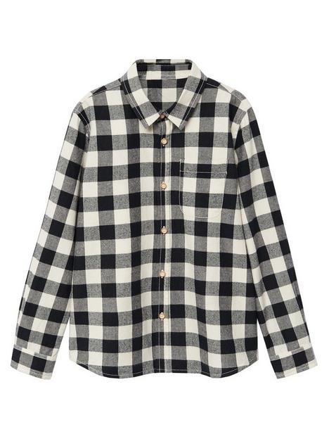 mango-boys-long-sleeved-checked-shirt-creamblack