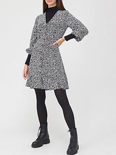 v-by-very-v-neck-button-through-mini-dress-monochrome