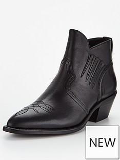 allsaints-weiz-leather-western-ankle-boots-black