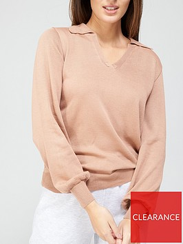 v-by-very-relaxed-fit-knitted-polo-top-camelnbsp