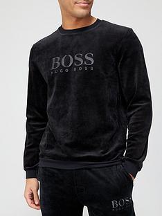 boss-bodywear-velour-sweatshirt-black