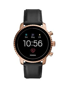 fossil-explorist-hr-black-leather-strap-mens-smartwatch