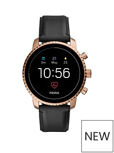 fossil-fossil-explorist-hr-black-leather-strap-smartwatch