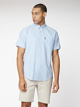 ben-sherman-short-sleeve-signature-oxford-shirt-sky