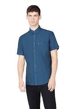 ben-sherman-short-sleeve-signature-oxford-shirt-sea