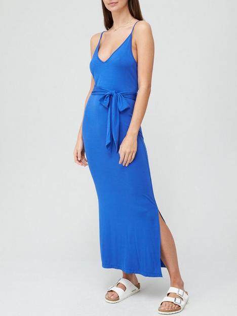 v-by-very-strappy-belted-midi-dress-bluenbsp