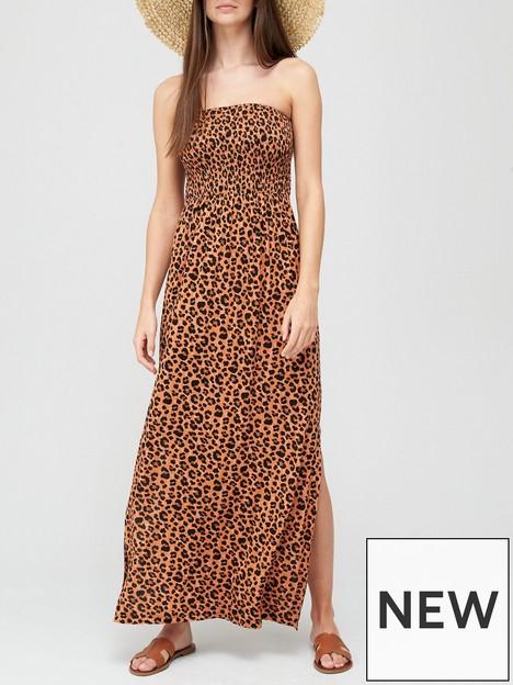 v-by-very-shirred-bandeau-maxi-dress-animal-printnbsp
