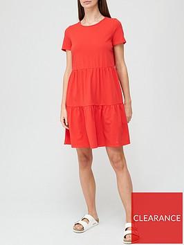 v-by-very-tiered-jersey-dress-rednbsp