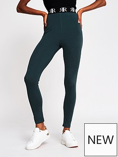 river-island-ri-tape-legging-dark-green