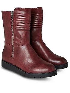 joe-browns-freestyle-biker-boots-red