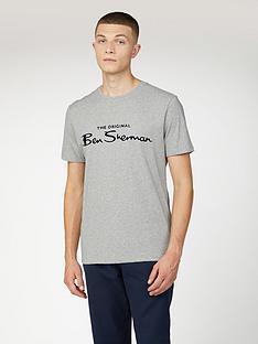 ben-sherman-signature-flock-t-shirtnbsp--grey
