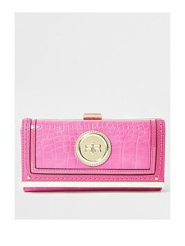 river-island-faux-croc-clip-top-purse-pink