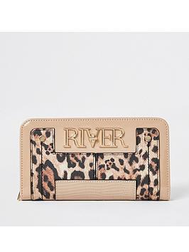river-island-leopard-print-ri-lock-ziparound-purse-beige