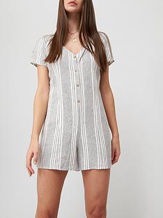 v-by-very-button-throughnbspplaysuit-stripenbsp