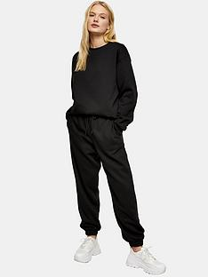 topshop-sweat-amp-jogger-setnbsp--black