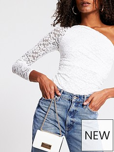 river-island-lace-one-shoulder-body-white