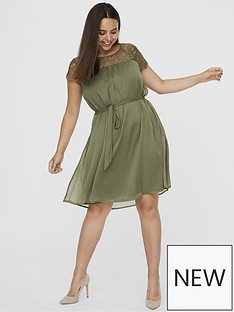junarose-carolina-lace-top-dress-khaki