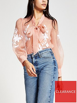 river-island-embroidered-organza-sheer-blouse-pink