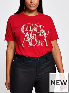 ri-plus-chanceaux-monogram-t-shirt-red