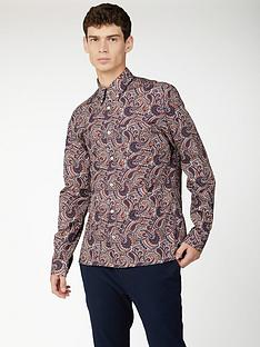 ben-sherman-ben-sherman-long-sleeve-large-paisley-shirt-multi