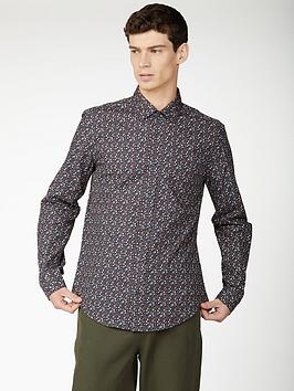 ben-sherman-ben-sherman-long-sleeve-multicolour-floral-shirt