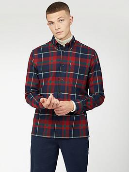 ben-sherman-ben-sherman-long-sleeve-oversized-brushed-tartan-shirt
