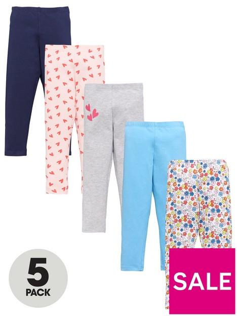 mini-v-by-very-girls-5-pack-heart-floral-leggings-multi
