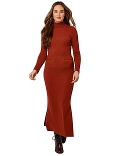 joe-browns-fabulous-ribbed-knitted-dress-rust