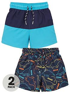 mini-v-by-very-boys-2-pack-dino-swim-shorts