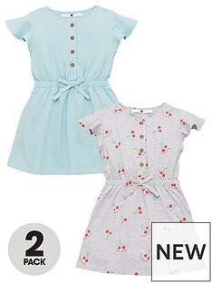 mini-v-by-very-girls-2-pack-cherry-and-spot-drawstring-dress-multi