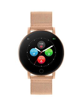 reflex-active-reflex-active-series-5-smart-watch-with-heart-rate-monitor-colour-touch-screen-and-rose-gold-stainless-steel-mesh-strap