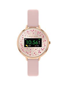reflex-active-reflex-active-series-3-smart-watch-with-crystal-pink-colour-screen-crown-navigation-and-nude-pink-strap