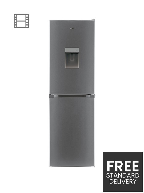 candy-cmcl-5172swdkn-low-frost-fridge-freezer-with-water-dispenser-silver