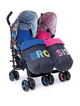 Cosatto Supa Dupa Twin Stroller - Bro N Sis