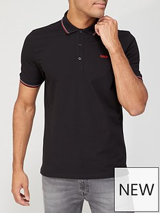 hugo-dinoso-211-polo-shirt-black