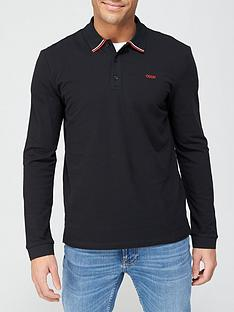 hugo-donol-211-long-sleeve-polo-shirt-black