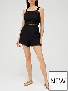 v-by-very-lace-trim-playsuit-black