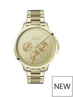 hugo-hugo-desire-multi-dial-gold-tone-bracelet-watch