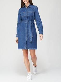 v-by-very-long-sleevenbsptie-waist-denim-shirt-dress-dark-wash